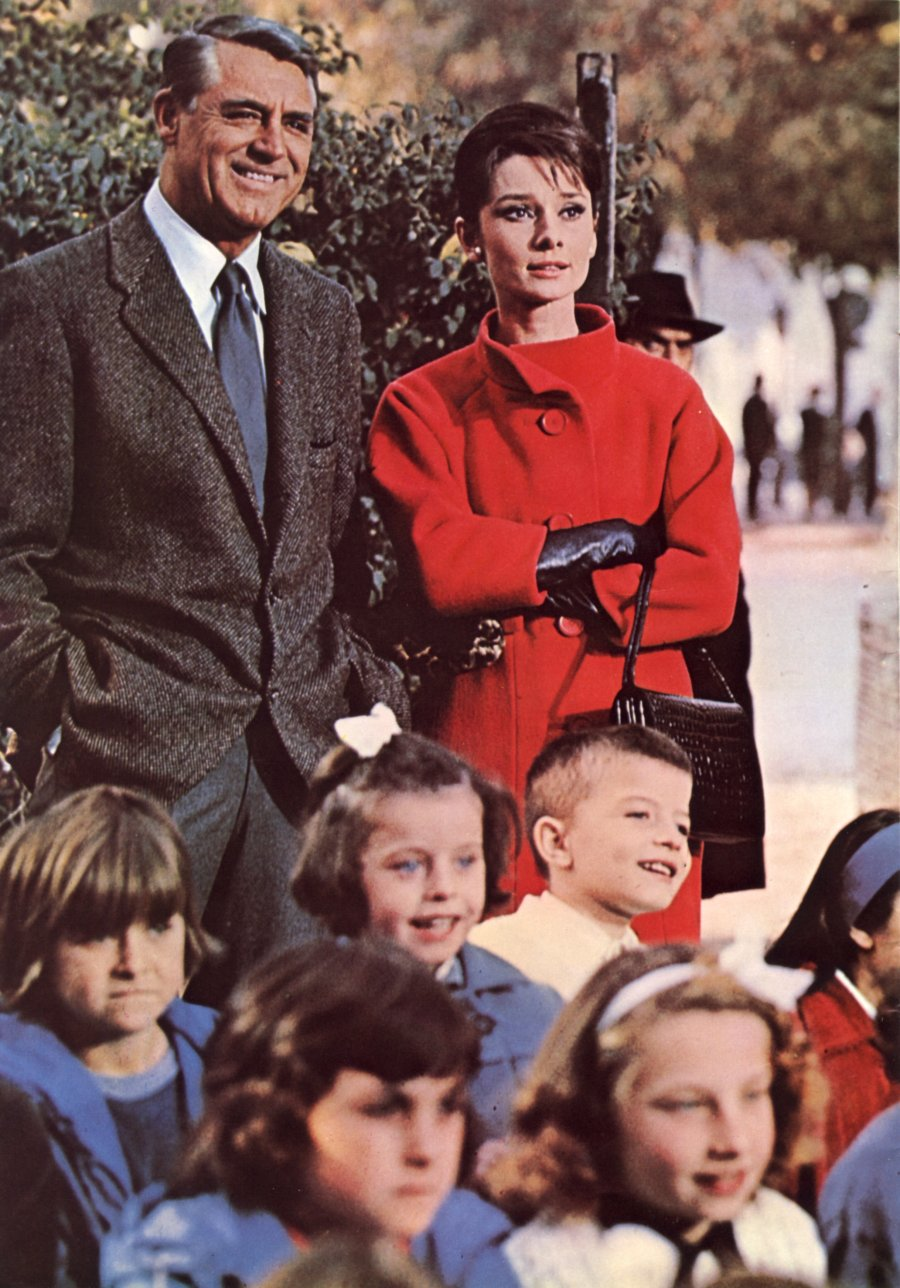 Cary Grant, Audrey Hepburn, assorted moppets:  Snow job.