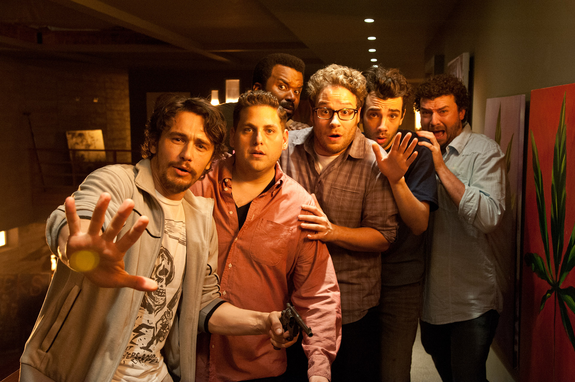 Franco, Hill, Rogen, Robinson, Baruchel, McBride: Scatalogical Escatology.
