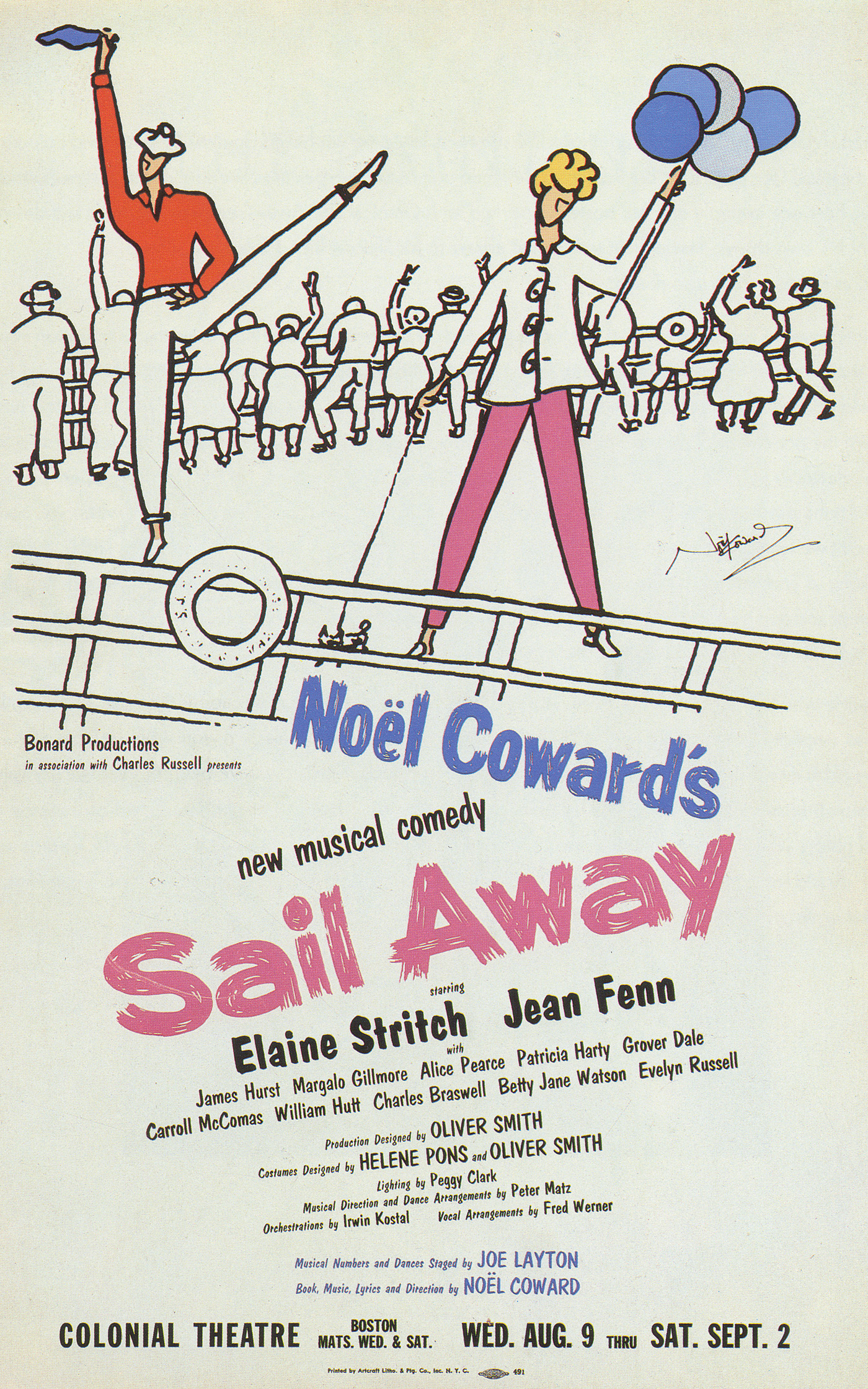'Sail Away' Boston tryout.