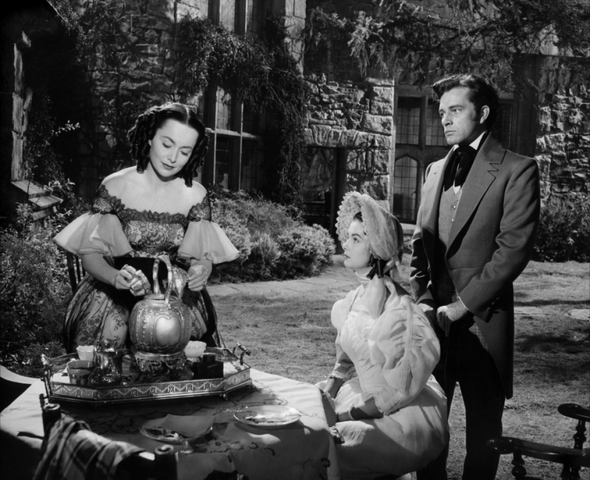 Olivia De Havilland, Audrey Dalton, Richard Burton:  Rachel, my torment; what is she up to?