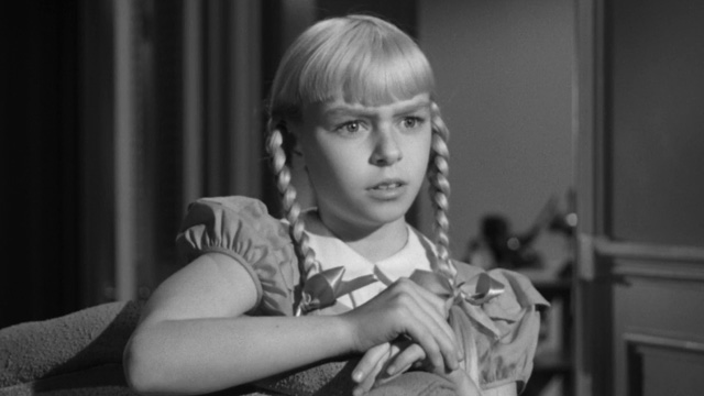 Patty McCormack as The Bad Seed:  'I've got the loveliest mother . . . '