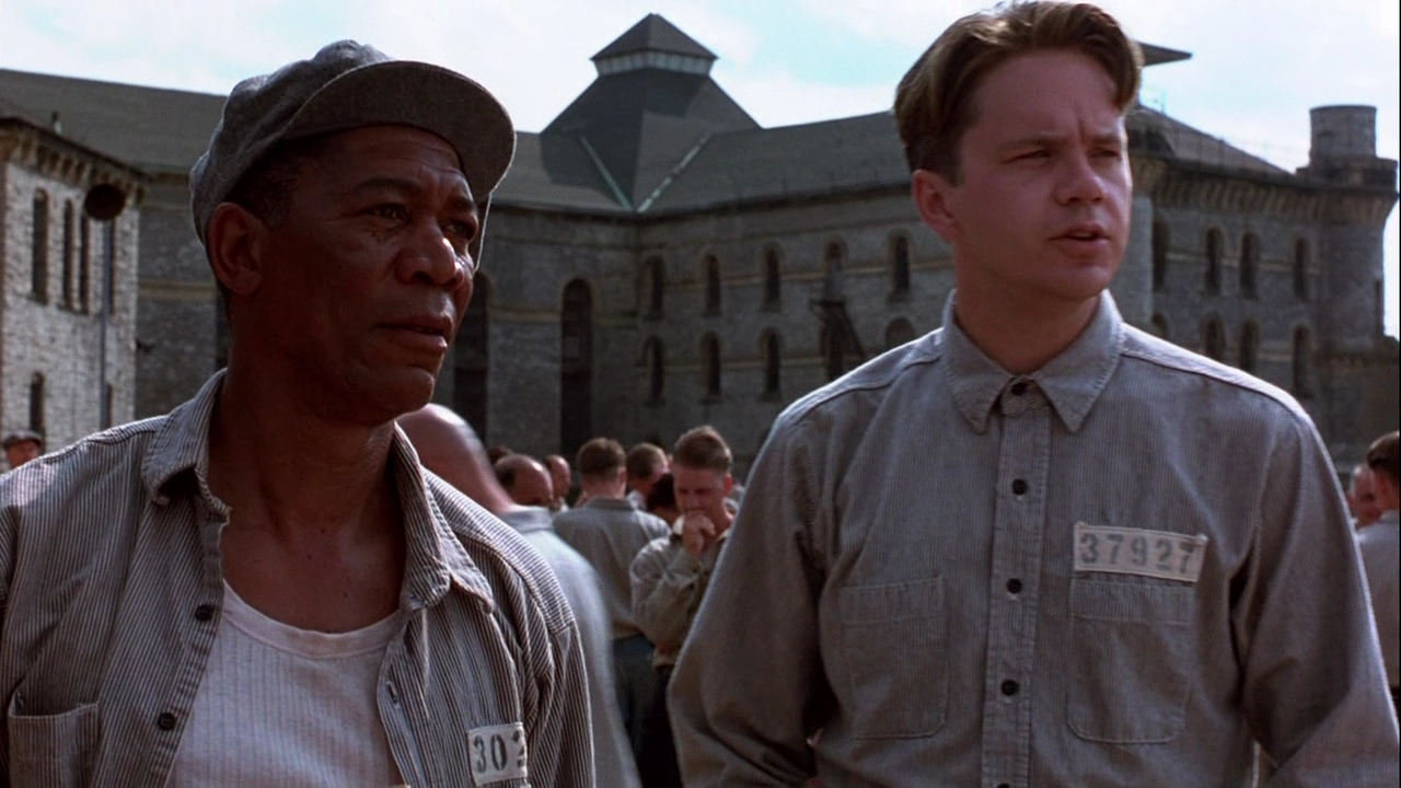 Morgan Freeman, Tim Robbins:  Pen pals.