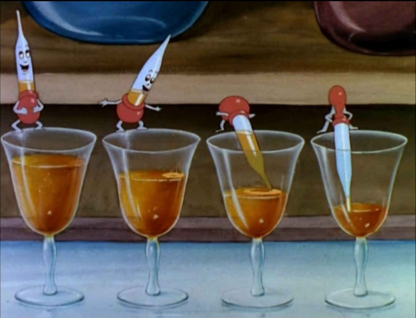 The Medicine Dropper Quartet juices up on rum in preparation for the waltz.