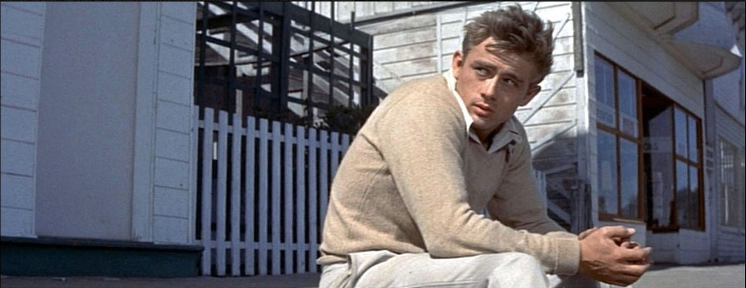 James Dean: Up to his usual tics.