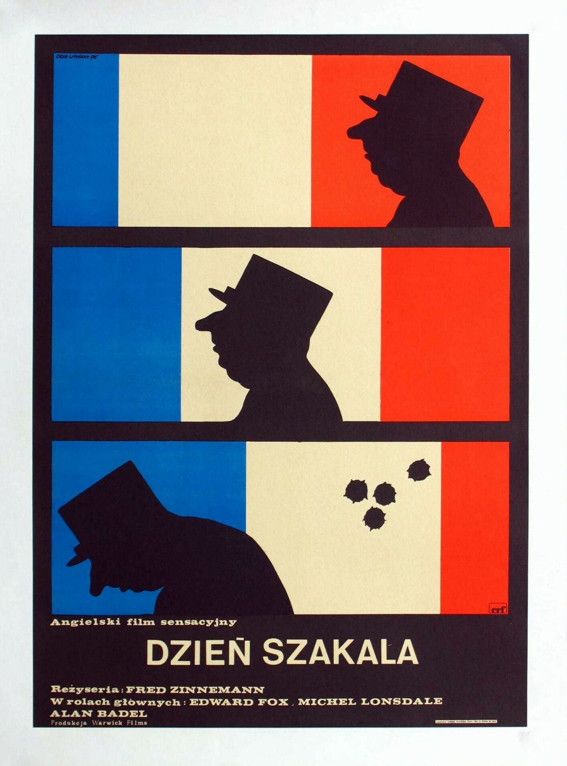 'Day of the Jackal' Polish language poster: far superior to the American release.