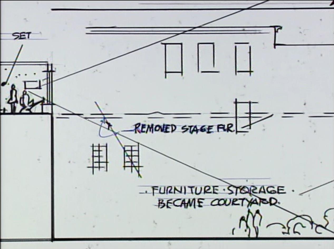Preliminary sketch of the floor plan.